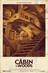 cabin in the woods crazy stairs poster